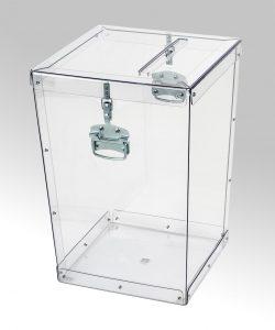 Transparent ballot boxes – 016
